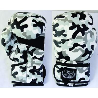 """Перчатки боксерские """"ECOS Punch Military""""-10-12, 10-12 унций, Кожа, Камуфляж"""