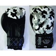 """Перчатки боксерские """"ECOS Punch Military""""-14, 14 унций, Кожа, Камуфляж"""