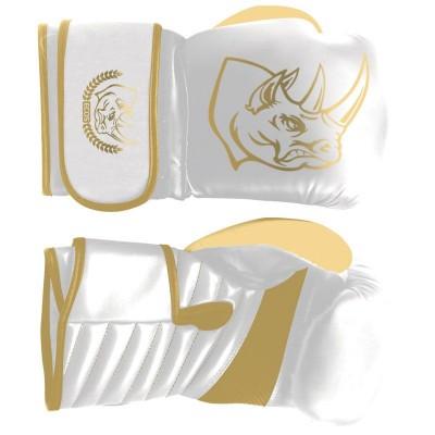 "Перчатки боксерские ""ECOS Punch White-Gold""-10-12, 10-12 унций, Кожа, цвет: белый"