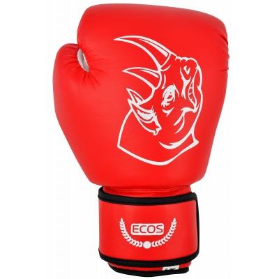 """Перчатки боксерские, детские """"Ecos Kids red"""" из ПВХ, 8 унций. Цвет: Красный"""