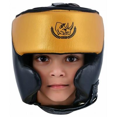 """Шлем боксерский """"ECOS Punch Black-Gold""""-S-M-L-XL"""