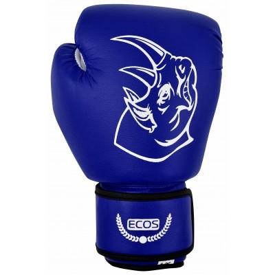 """Перчатки боксерские, детские """"Ecos Kids blue"""" из ПВХ, 8 унций. Цвет: Синий"""