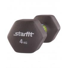 Гантель неопреновая STARFIT DB-201 4 кг, холодный серый (1 шт.)