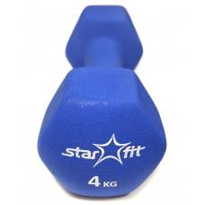 Гантель неопреновая STARFIT DB-201 4 кг, темно-синяя (1 шт.)