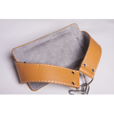 Ремень для подвешивания отягощений к поясу кожаный (винилискожа)