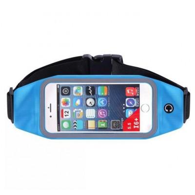 Пояс-сумка для телефона CWILKES  XCW-007, 5,5 дюйма, синяя