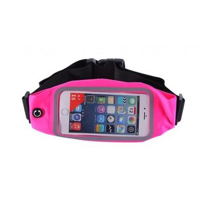 Пояс-сумка для телефона CWILKES  XCW-007, 5,5 дюйма, розовая