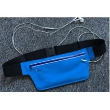 Пояс-сумка для телефона, MF-168, 6 дюймов, синяя