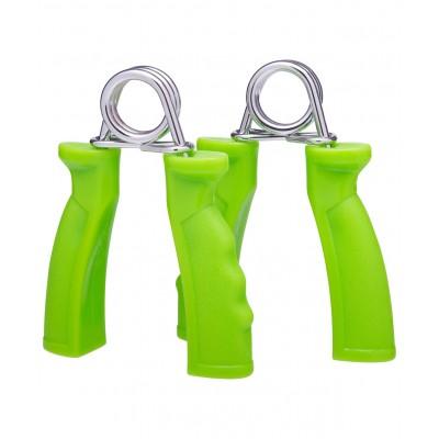 Эспандер кистевой пружинный ES-301, пара, жесткая ручка, зеленый
