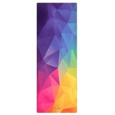 Коврик для йоги из каучука и микрофибры 178х61х0,35 см Nagudi Радужные Грани