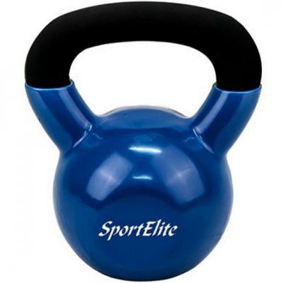 Гиря  чугунная обрезиненная SportElite 24 кг
