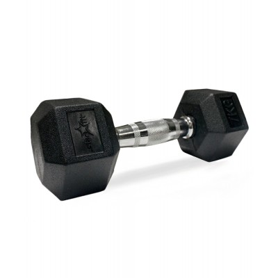 Гантель обрезиненная STARFIT DB-301 7 кг, черная