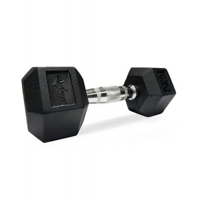 Гантель обрезиненная STARFIT DB-301 9 кг, черная