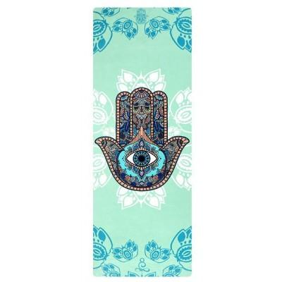 Коврик для йоги из каучука и микрофибры 178х61х0,35 см Nagudi Рука Фатимы