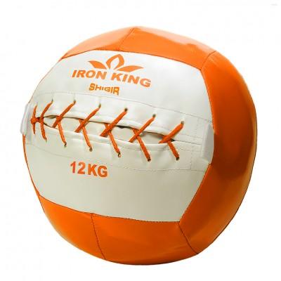 Медбол Iron King, 12 кг, оранжевый