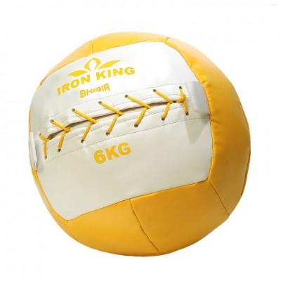 Медбол Iron King, 6 кг, желтый