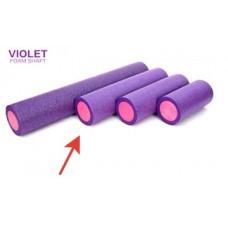 Ролик для йоги и пилатеса FS-60, 15х60 см, фиолетовый/розовый