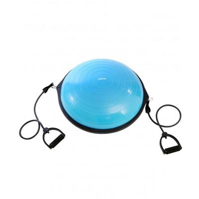 """Полусфера """"BOSU"""" STARFIT GB-502 PRO с эспандерами, с насосом, синий"""