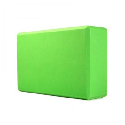 Блок для йоги KN120 зеленый