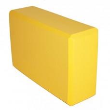 Блок для йоги KN120 желтый