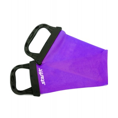 Эспандер ленточный STARFIT ES-202 жесткая ручка, фиолетовый