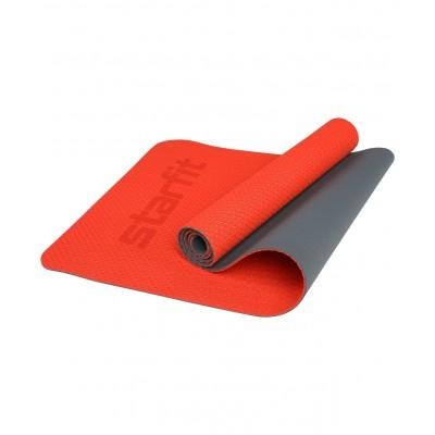 Коврик для йоги STARFIT FM-202, TPE перфорированный, 173 x 61 x 0,5 см, ярко-красный