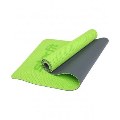 Коврик для йоги STARFIT FM-202, TPE перфорированный, 173 x 61 x 0,7 см, ярко-зеленый