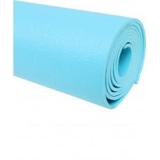 Коврик для йоги STARFIT FM-103, PVC HD, 173 x 61 x 0,4 см, голубой