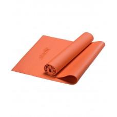 Коврик для йоги STARFIT FM-101 PVC 173x61x0,4 см, оранжевый