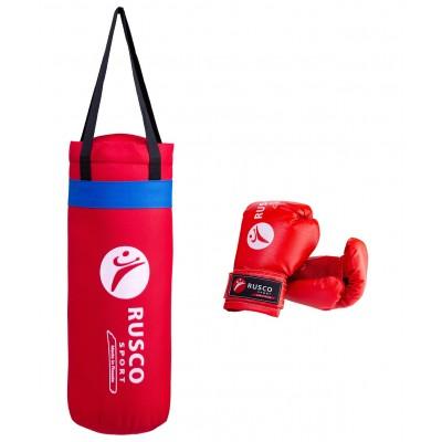Набор для бокса  Rusco, 6 oz, кожзам,  красный