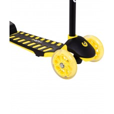 Самокат 3-колесный Spike 3D 120/100 мм, желтый