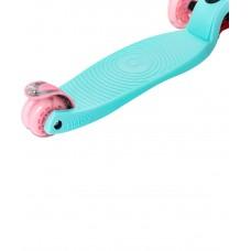 Самокат 3-колесный Snappy 2.0 3D 120/80 мм, мятный/розовый