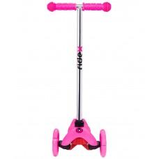Самокат 3-колесный Zippy 2.0 3D 120/80 мм, розовый