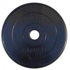 Диск обрезиненный черный BARBELL ATLET d-26 20кг