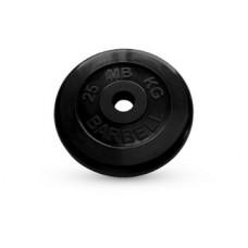 Диск обрезиненный черный BARBELL ATLET d-26 25кг