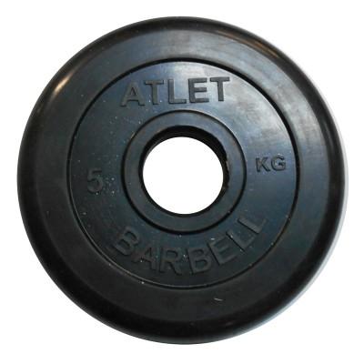 Диск обрезиненный черный BARBELL ATLET d-51 5кг