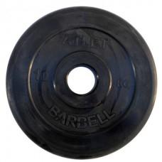 Диск обрезиненный черный BARBELL ATLET d-51 10кг