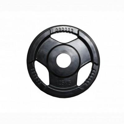 Диск H-310 обрезиненный черный с ручками d-31 mm 1,25 кг