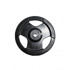 Диск H-310  обрезиненный черный с ручками d-31 mm 10 кг