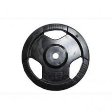 Диск H-310 обрезиненный черный с ручками d-31 mm 15 кг