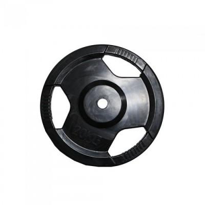 Диск H-310 обрезиненный черный с ручками d-31 mm 20 кг