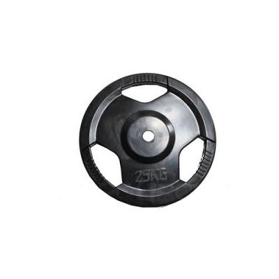 Диск H-310 обрезиненный черный с ручками d-31 mm 25 кг