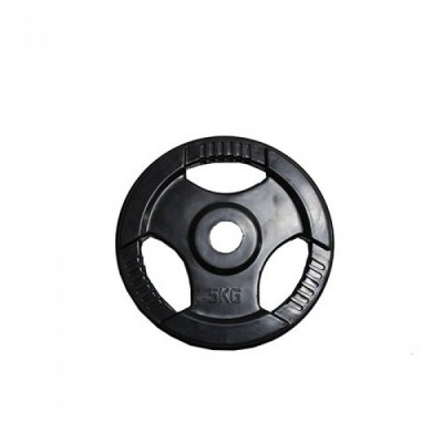 Диск H-310 обрезиненный черный с ручками d-31 mm 5 кг