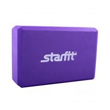 Блок для йоги STARFIT FA-101 PVC, фиолетовый