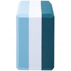 Блок для йоги YB-201 EVA, 22,8х15,2х10 см, 350 гр, изумрудная радуга