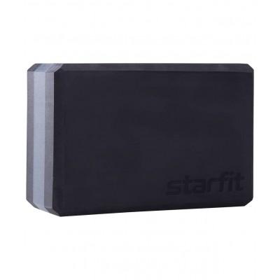 Блок для йоги YB-201 EVA, 22,8х15,2х10 см, 350 гр, черный, серый