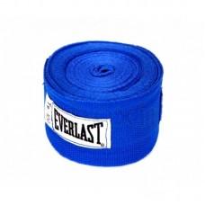 Бинт боксерский Everlast 4454RBU, 3м, х/б, синий