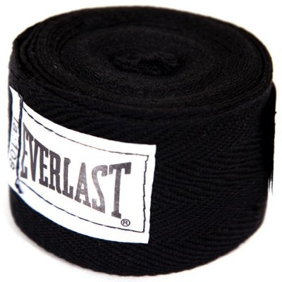 Бинт боксерский Everlast 4455BPU, 2.75м, х/б, черный