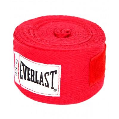 Бинт боксерский Everlast 4455RP, 2.75м, х/б, красный