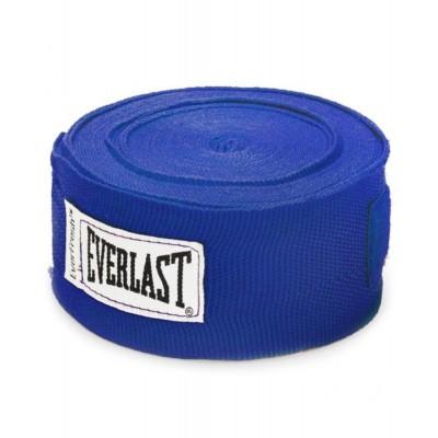 Бинт боксерский Everlast 4456BLU, 4.55м, х/б, синий